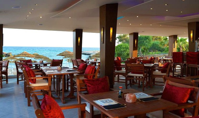Adams Beach Hotel Deluxe Wing outdoor restaurant
