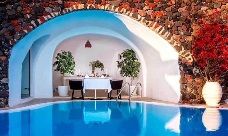 Canaves Oia Hotel private dining