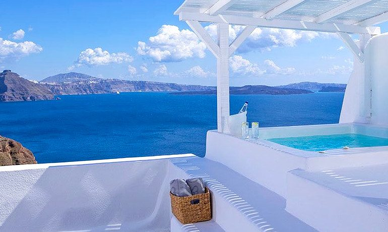 Canaves Oia Hotel private pool
