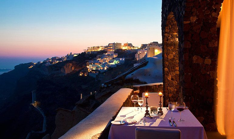 Canaves Oia Suites Petra Gourmet restaurant