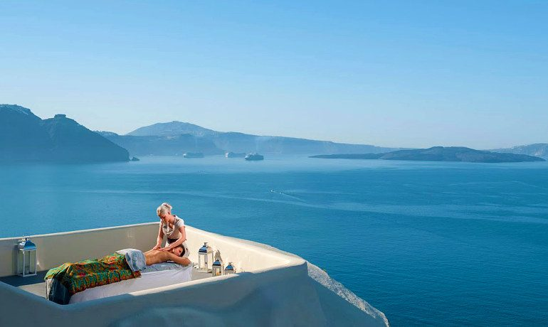 Canaves Oia Suites SPA with a sea view