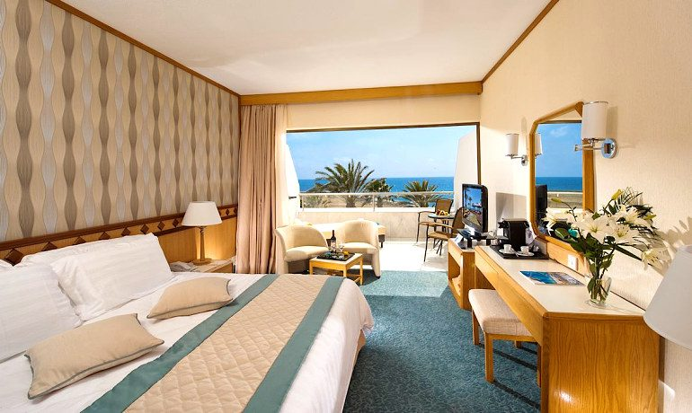 Constantinou Bros Pioneer Beach Hotel superior deluxe room with sea view