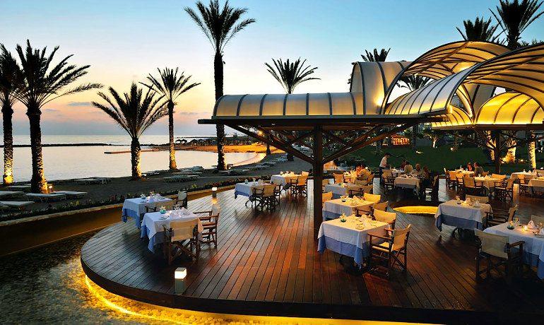 Constantinou Bros Pioneer Beach Hotel Thalassa Mediterranean restaurant