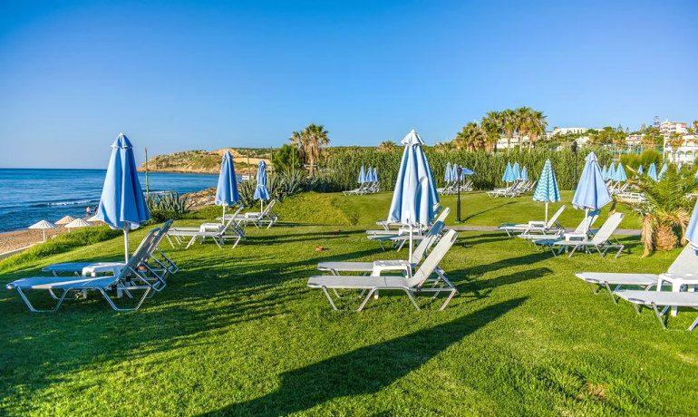 Creta Royal hotel beach sunbeds