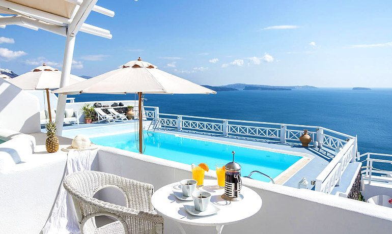La Perla Villas & Suites honeymoon villa view