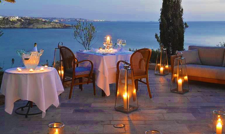 Sentido Thalassa Coral Bay dinner at outdoor Ambrosia restaurant