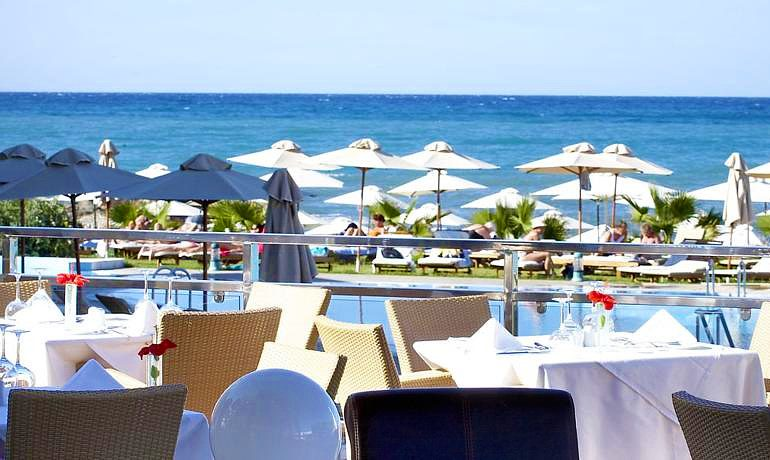 Thalassa Beach Resort & Spa from outdoor restaurant