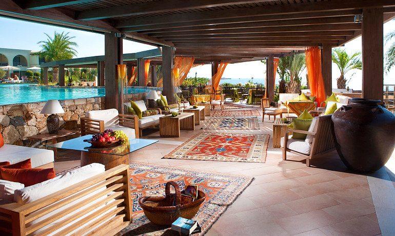 The Aquagrand of Lindos Olivino pool bar restaurant