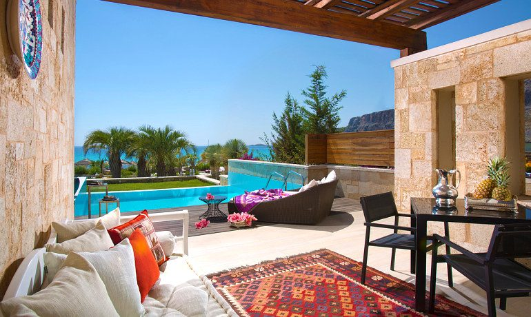 The Aquagrand of Lindos prestige suite terrace
