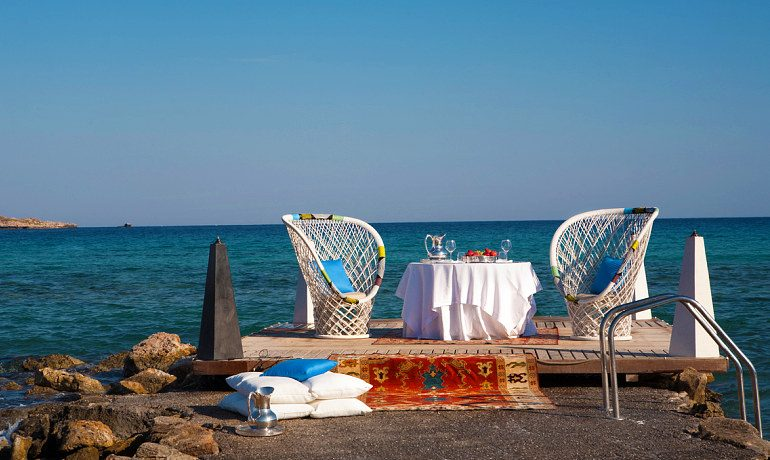 The Aquagrand of Lindos romantic dinner