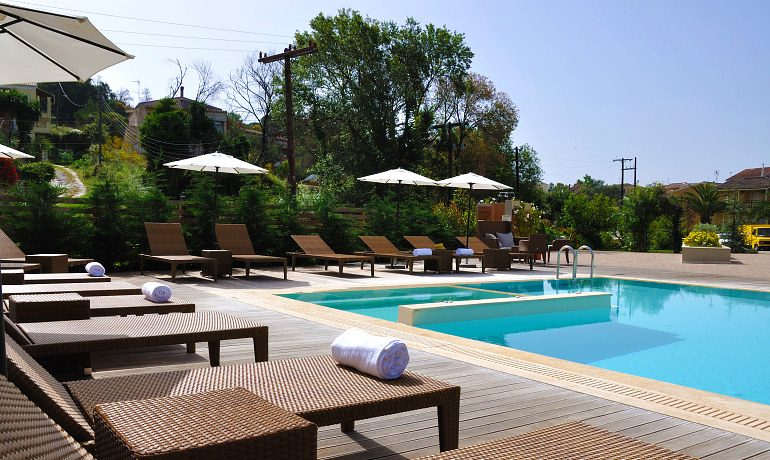 Corfu Mare Boutique Hotel general pool view