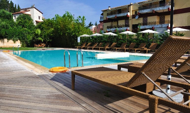 Corfu Mare Boutique Hotel pool with sunbed