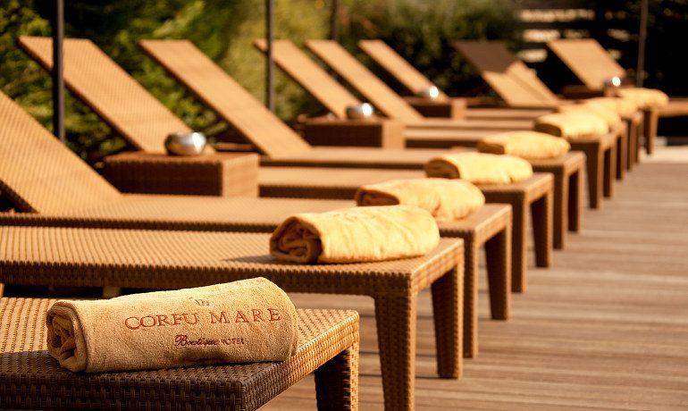 Corfu Mare Boutique Hotel sunbeds