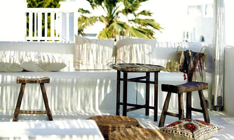San Giorgio hotel Mykonos Famosa suite-veranda