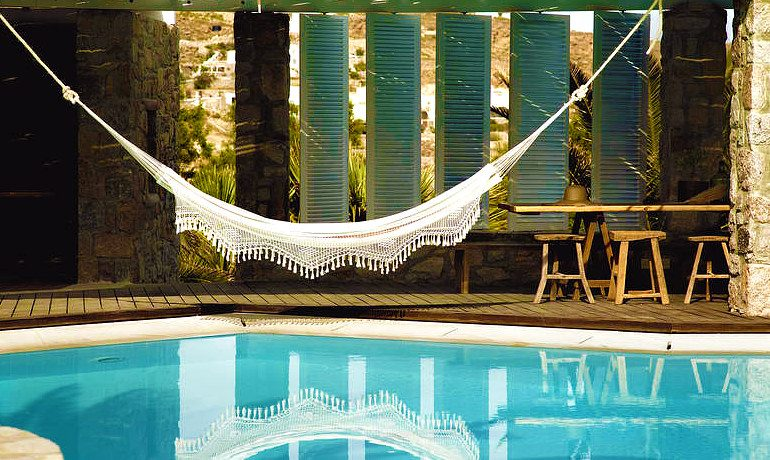 San Giorgio hotel Mykonos hammock