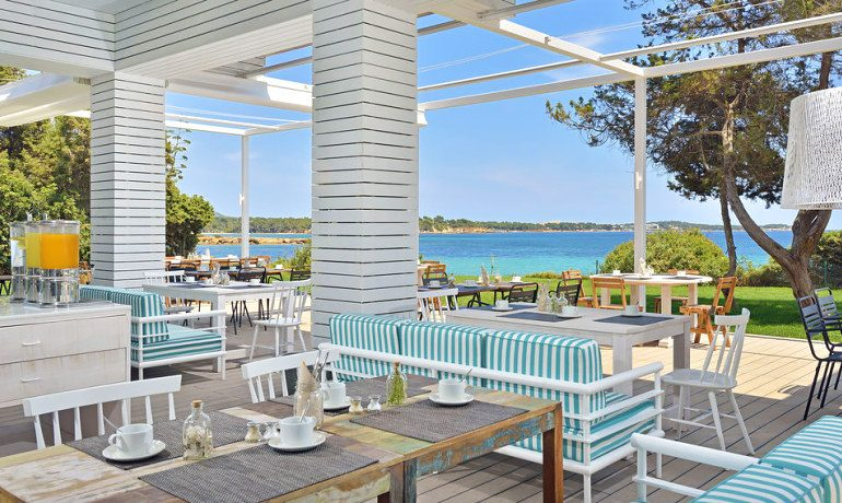 Sol Beach House Ibiza buffet restaurant terrace