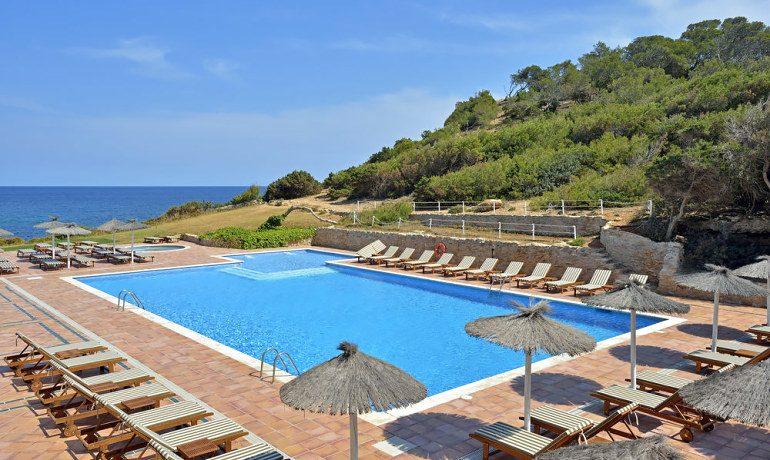Sol Beach House Ibiza pool and sea view