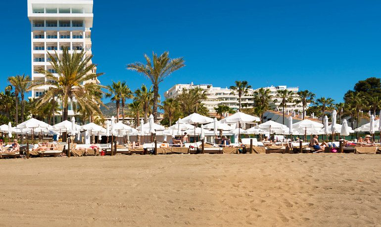 Amare Marbella Beach Hotel view from the beach