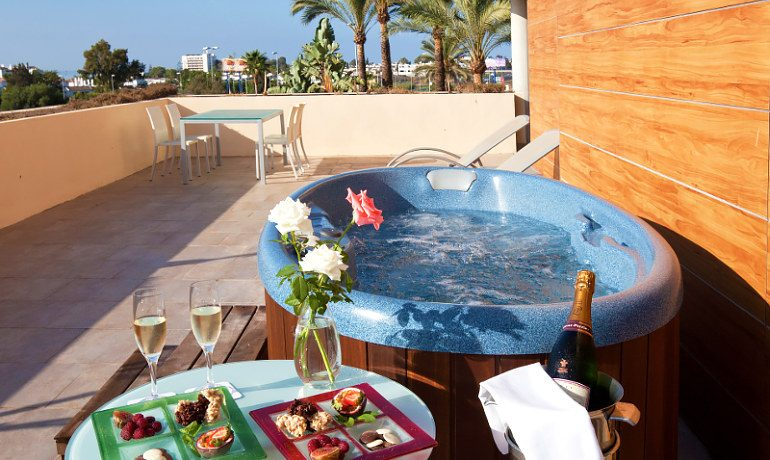 Occidental Estepona Thalasso & Spa deluxe room balcony jacuzzi