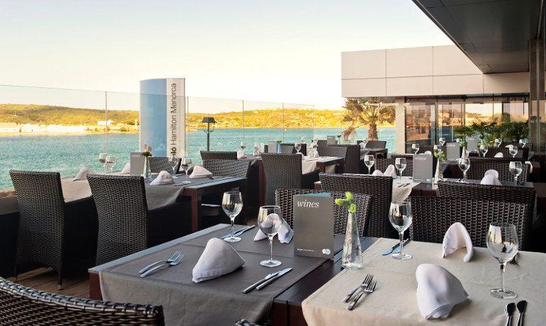 Barceló Hamilton Menorca restaurant terrace