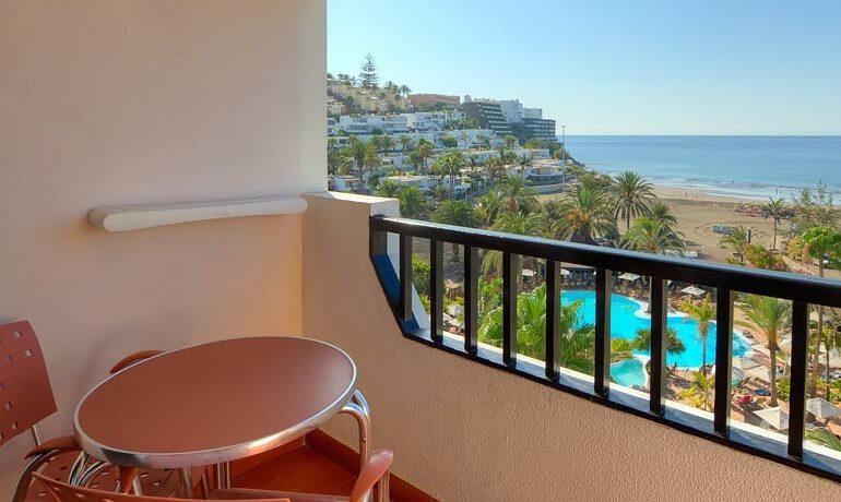 IFA Beach Hotel room balcony with sea view