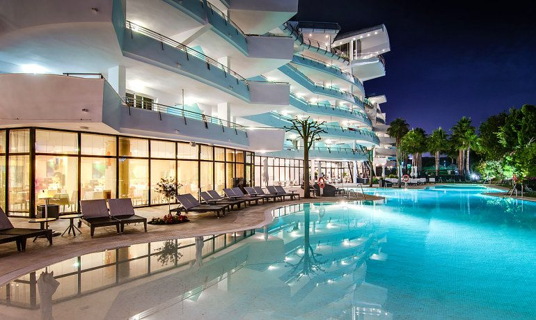 Senator Banus Spa Hotel evening pool view
