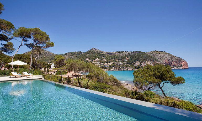 Can Simoneta hotel beach house pool sea view