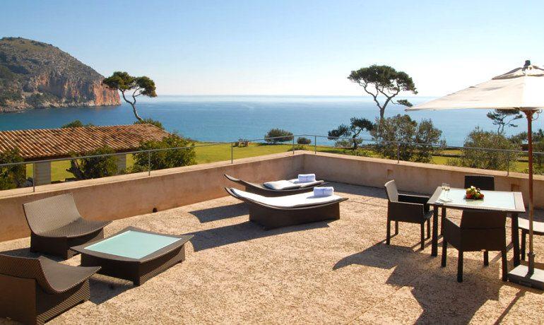 Can Simoneta hotel luxury suite terrace