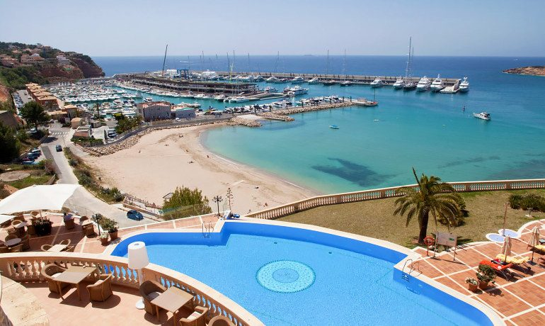 Pure Salt Port Adriano bay and pool view