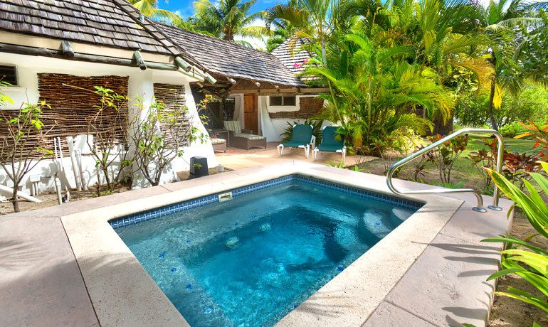 Galley Bay Resort & Spa cottage pool area