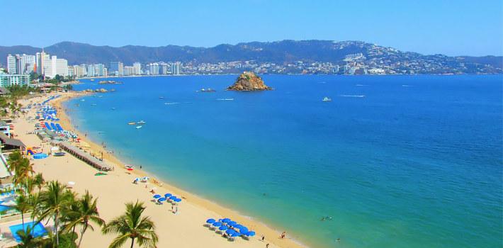 Acapulco beach in Mexico
