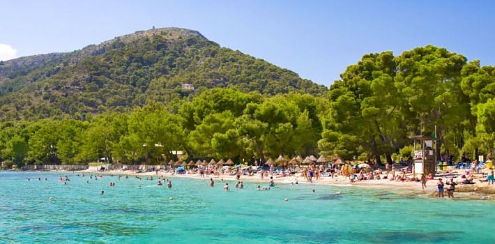 Cala Formentor beach in Puerto Pollensa resort area