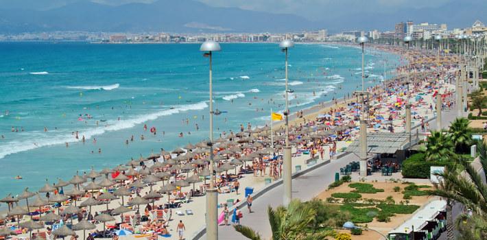 El Arenal resort in Majorca