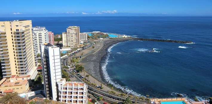 Puerto de la Cruz resort in Tenerife