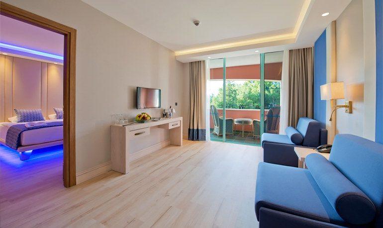 SENTIDO Lykia Resort & Spa deluxe suite living room
