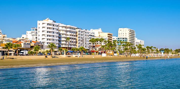 Larnaca seaside resort in Cyprus