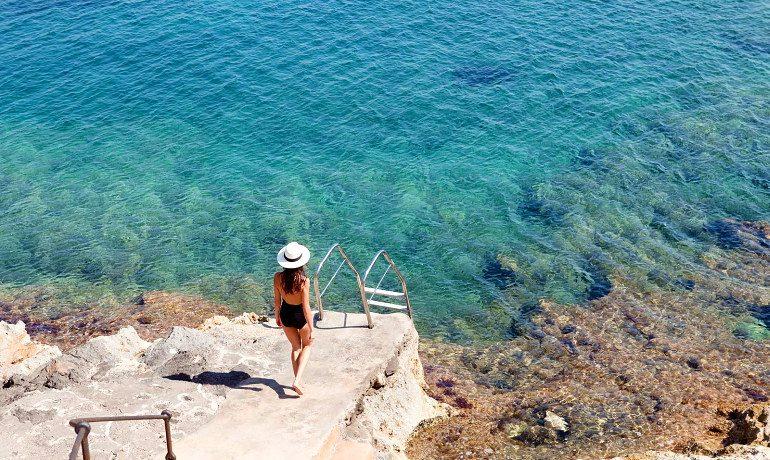 Cap Rocat hotel beach view