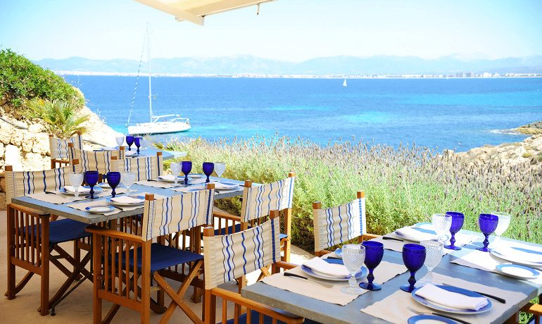 Cap Rocat hotel Sea Club open air restaurant