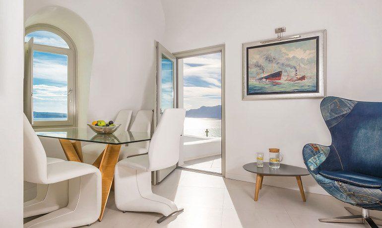 Elite Luxury Suites Santorini elite suite living room