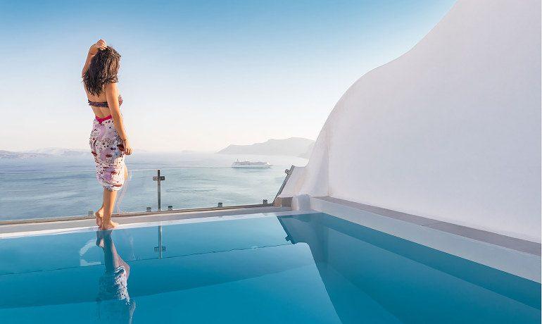 Elite Luxury Suites Santorini elite suite pool