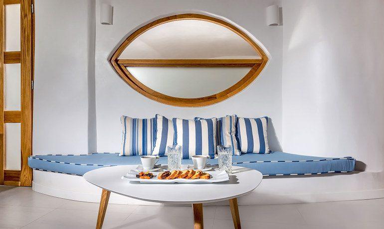 Elite Luxury Suites Santorini elite suite snacks
