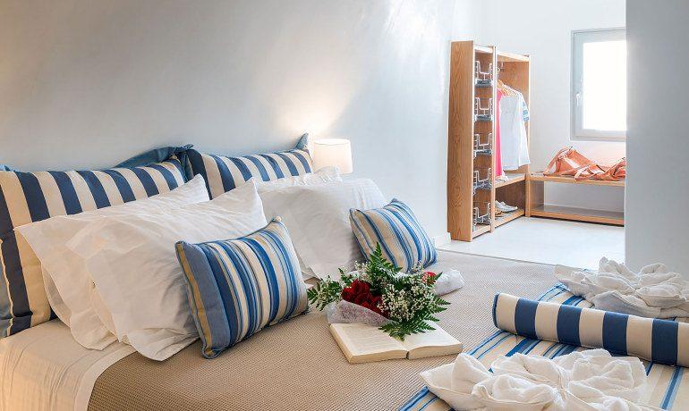 Elite Luxury Suites Santorini grand suite bedroom interior
