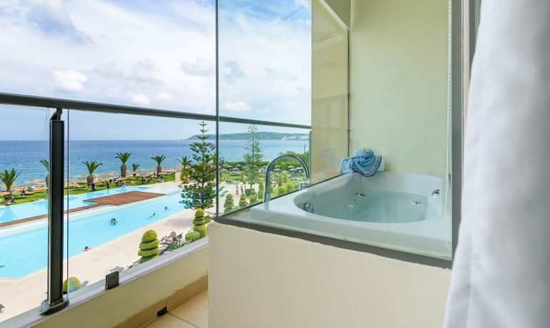 Sentido Ixian Grand deluxe sea view room bathroom view