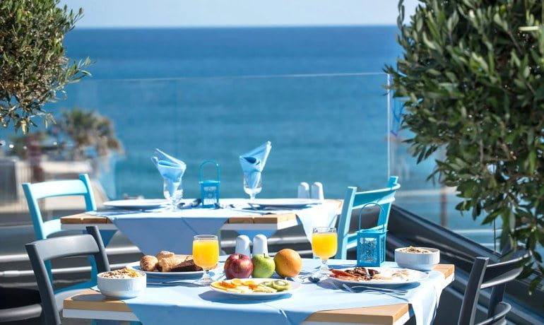 Infinity Blue Boutique Hotel & Spa Breakfast