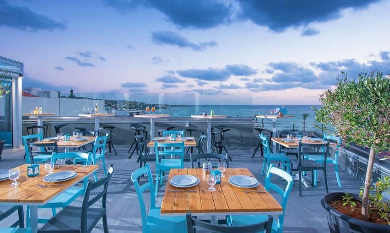 Infinity Blue Boutique Hotel & Spa Sea side restaurant