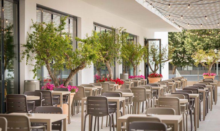 Aqua Hotel Silhouette & Spa main restaurant terrace