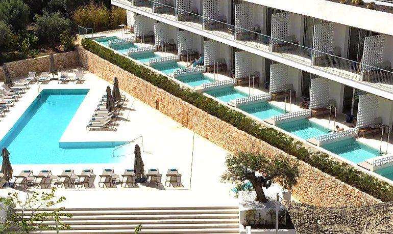 Inturotel Cala Esmeralda hotel pool area view
