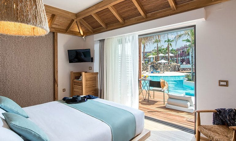 Stella Island Luxury Resort & Spa over water bungalow room view