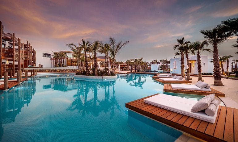 Stella Island Luxury Resort & Spa pool beds