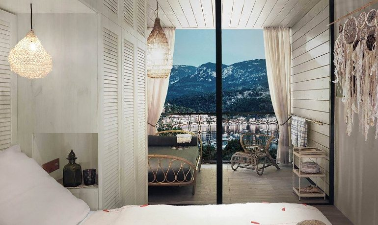 Bikini Island & Mountain Hotel Port de Soller bay house room